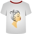 T Shirt Template- Hairstyle vector image vector image