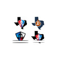 texas shield template set vector image vector image