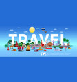 travel and tourism poster vector image vector image