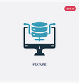 two color feature icon from web hosting concept vector image vector image