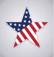 usa american flag star shape vector image vector image