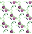 Watercolor floral violet berry handdrawn vector image