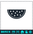 watermelon icon flat vector image vector image