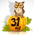 Wise owl Halloween Party vector image vector image
