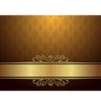Golden Background With Luxury Design vector image