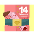 14 February Valentines day Military clothing and a vector image vector image