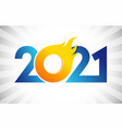 2021 flame bomb vector image vector image
