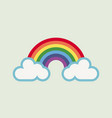 a rainbow for hope and wish green background vector image