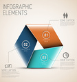Abstract shape with Infographic vector image vector image
