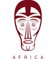 african ethnic culture mask design template vector image