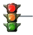 at a traffic light the three colors light up red vector image