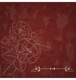 background with bouquet roses vector image vector image