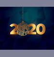 beautiful 2020 golden new year text with vector image vector image