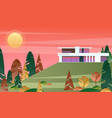 beautiful modern cottage vector image vector image