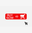buy now button with cursor design element for vector image vector image