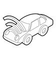 Car with wifi sign icon outline style vector image vector image