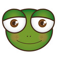 cartoon frog animal head expression vector image