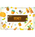 cartoon organic honey concept vector image vector image