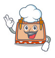 chef hand bag character cartoon vector image vector image