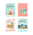 Christmas Cards 4 vector image vector image