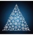 Christmas tree snowflake design background vector image
