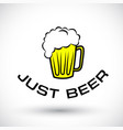 cool beer vector image vector image