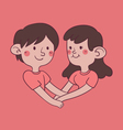 Couple Holding Hand Forming a Heart Shape vector image vector image
