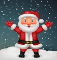 Cute Santa cartoon waving hand