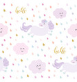 cute unicorn seamless pattern background with vector image vector image