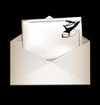 dark envelope and retro card vector image vector image