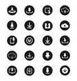 download icon set for web design vector image vector image