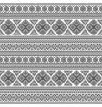 ethnic seamless monochrome pattern vector image