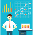 Expert of business optimization vector image vector image