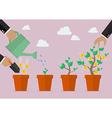 Financial growth process vector image vector image
