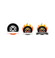 fire tire emblem template set vector image vector image