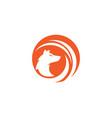 fox icon vector image vector image
