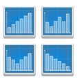 Graphs Icons vector image vector image