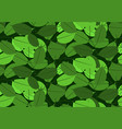 green leaves pattern seamless backdrop vector image