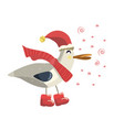 gull in a red scarf vector image