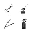hairdress glyph icons set haircut hair dyeing vector image