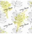 Hand drawn curry leaves branch and handwritten vector image vector image