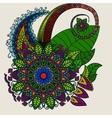 hand drawn mandala circular colored pattern vector image vector image