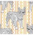 High detailed seamless pattern with bulldog vector image vector image