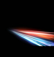 high speed light effect vector image vector image