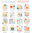 infographics mini concept web design icons and vector image vector image
