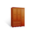 isolated a wardrobe on white background vector image vector image