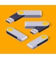 Isometric USB flash-drive vector image vector image