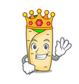 king burrito mascot cartoon style vector image vector image