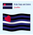 Leather pride flag with correct color scheme vector image vector image