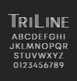 line font template letters and numbers linear vector image